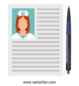 nurse curriculum vitae with pen