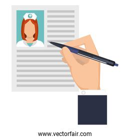 hand writing in nurse curriculum vitae
