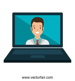 laptop with doctor telemedicine
