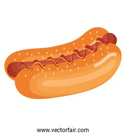 fresh and delicious hot dog