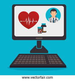 computer with telemedicine technology