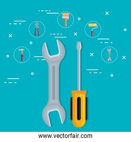 tools with under construction equipment