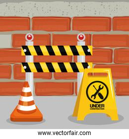 fence with cone construction