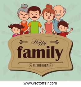 happy family members characters
