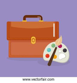 schoolbag supply with pallette paint