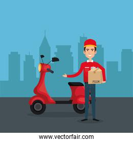 delivery service worker character