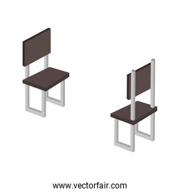 chairs forniture isometric icon