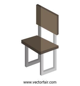 chair forniture isometric icon