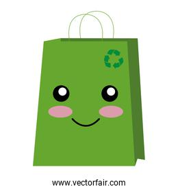 recycle bag character shopping icon