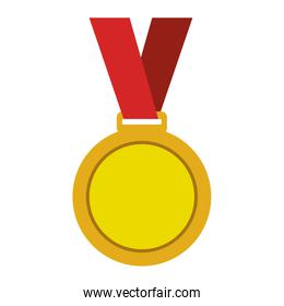 Championship medals isolated icon