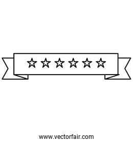 ribbon with stars frame
