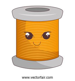 Sewing thread roll comic character