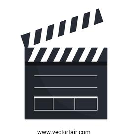 clapperboard cinema isolated icon