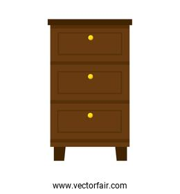 wood drawer isolated icon