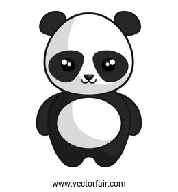 cute and tender bear panda kawaii style