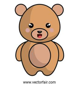 pretty and tender bear kawaii style