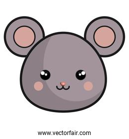 cute and tender mouse kawaii style