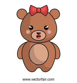 cute and tender female bear kawaii style
