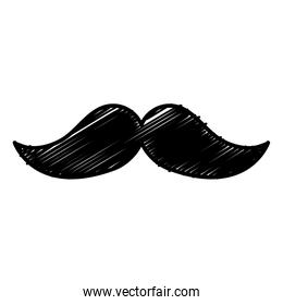 mustache mexican isolated icon