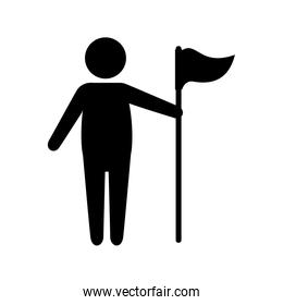 golf player with flag avatar character