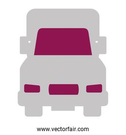 truck vehicle isolated icon