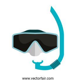 googles snorkels isolated icon