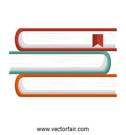text books isolated icon