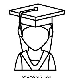 student graduated isolated icon