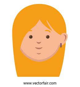 face woman with blond hair