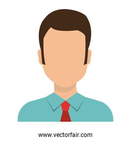 businessman worker isolated icon