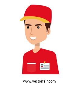 courier worker avatar character