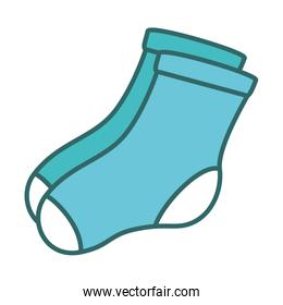 socks hanging in the laundry