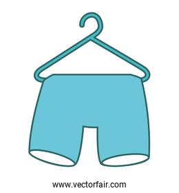 shorts hanging in the laundry