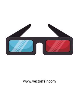 glasses 3d isolated icon