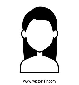 young woman shirtless avatar character
