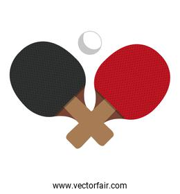 ping pong racket isolated icon
