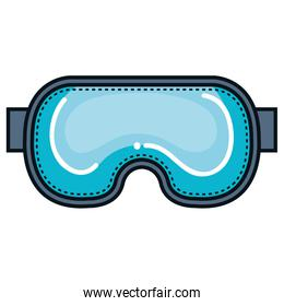 diving googles isolated icon