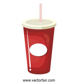 soda drink in plastic cup