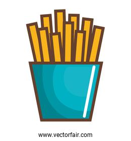 potatoes fries isolated icon