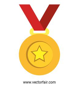 champion medal with star