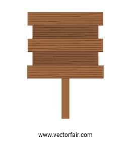 wooden banner isolated icon