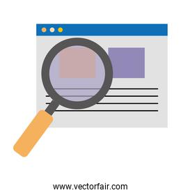 search magnifying glass with template