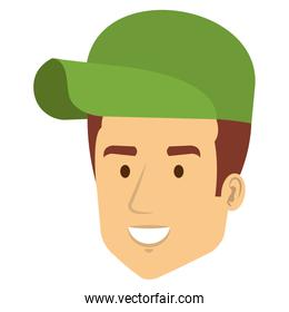 delivery worker avatar character