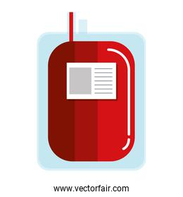 donate blood bag isolated icon