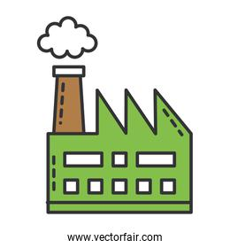 factory plant building icon