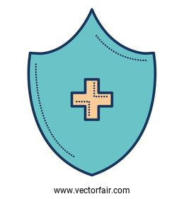 shield with cross icon