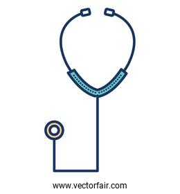 stethoscope medical isolated icon