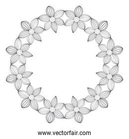 Circular crown with flowers