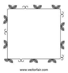 floral decorative frame icon