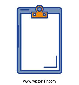 clipboard paper isolated icon